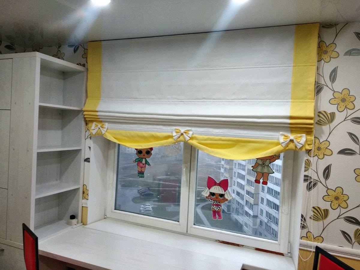 римские шторы фото в детской комнате