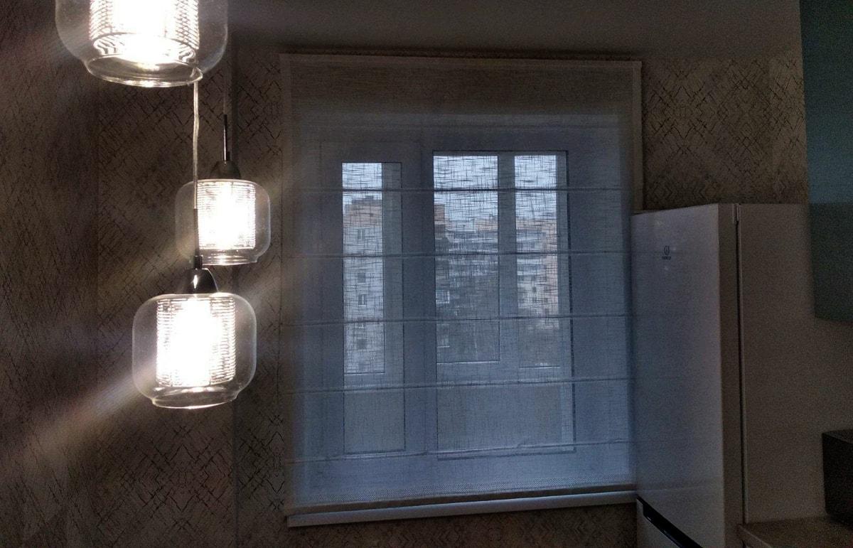 римские шторы из льна фото