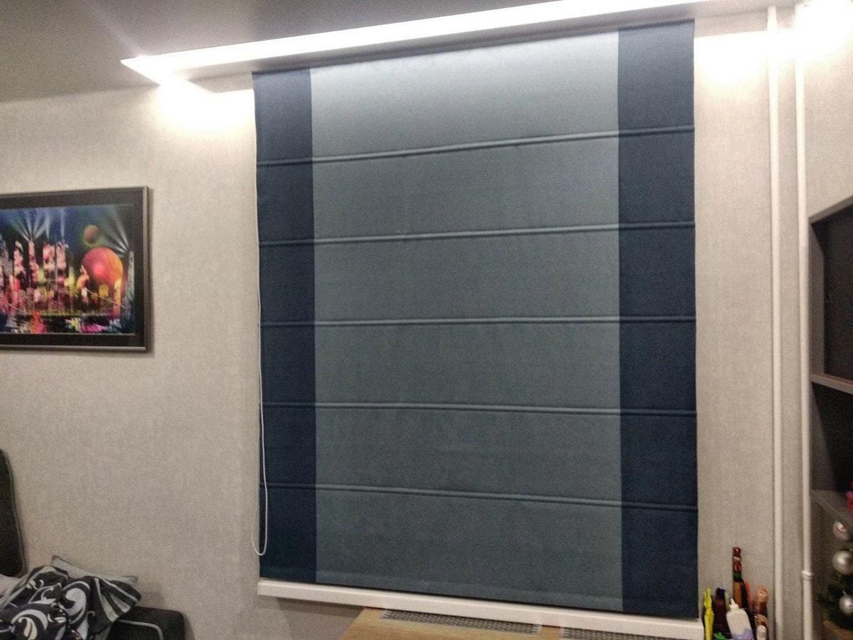 римские шторы из ткани блэкаут фото