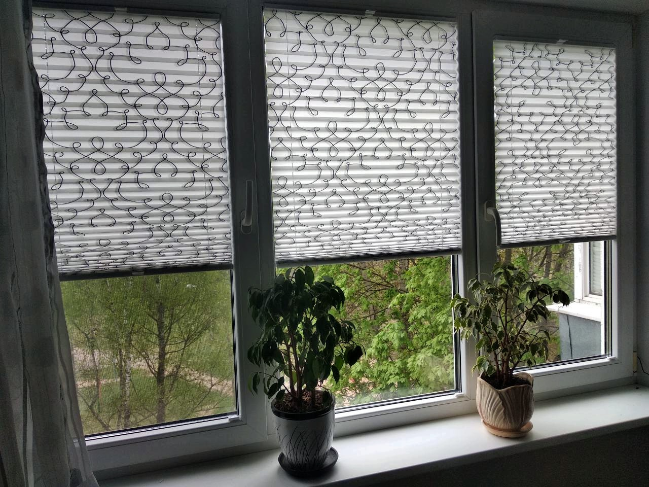 шторы плиссе с узором фото